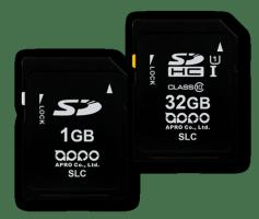 APRO Industrial SLC SD / SDHC Memory Card 128Mb - 32Gb SLC PHANES-F Series