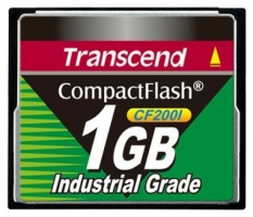 Transcend Compact Flash Card - Industrial series 1Gb TS1GCF200I