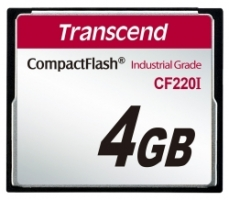 Transcend Compact Flash Card - Industrial series 4 Gb TS4GCF220I