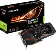 Видеокарта GIGABYTE PCIE16 GTX1060 6GB GDDR5 GV-N1060G1 GAMING-6GD
